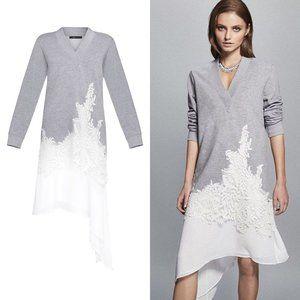 BCBGMAXAZRIA Ciana Asymmetrical Sweater Midi Dress